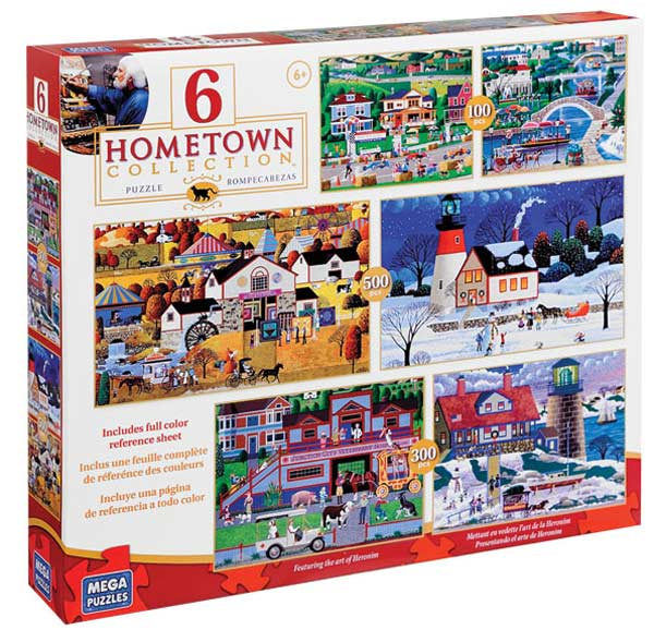Hometown Collection - 6 in 1 Multipack Folk Art Jigsaw Puzzle