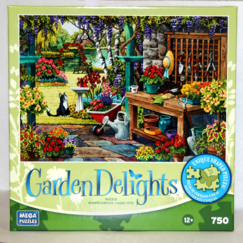 Garden Delights - The Potting Bench Birds Jigsaw Puzzle