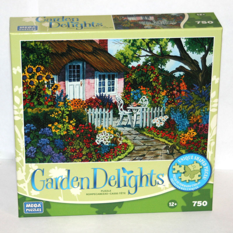 Garden Delights - Rose Cottage Garden Jigsaw Puzzle