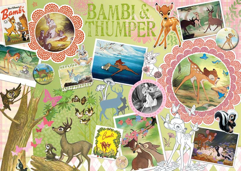 Disney ScrapBook - Bambi Cartoons Jigsaw Puzzle