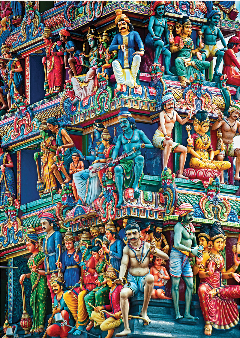 Structures - Sri Mariamman Temple Landmarks Jigsaw Puzzle