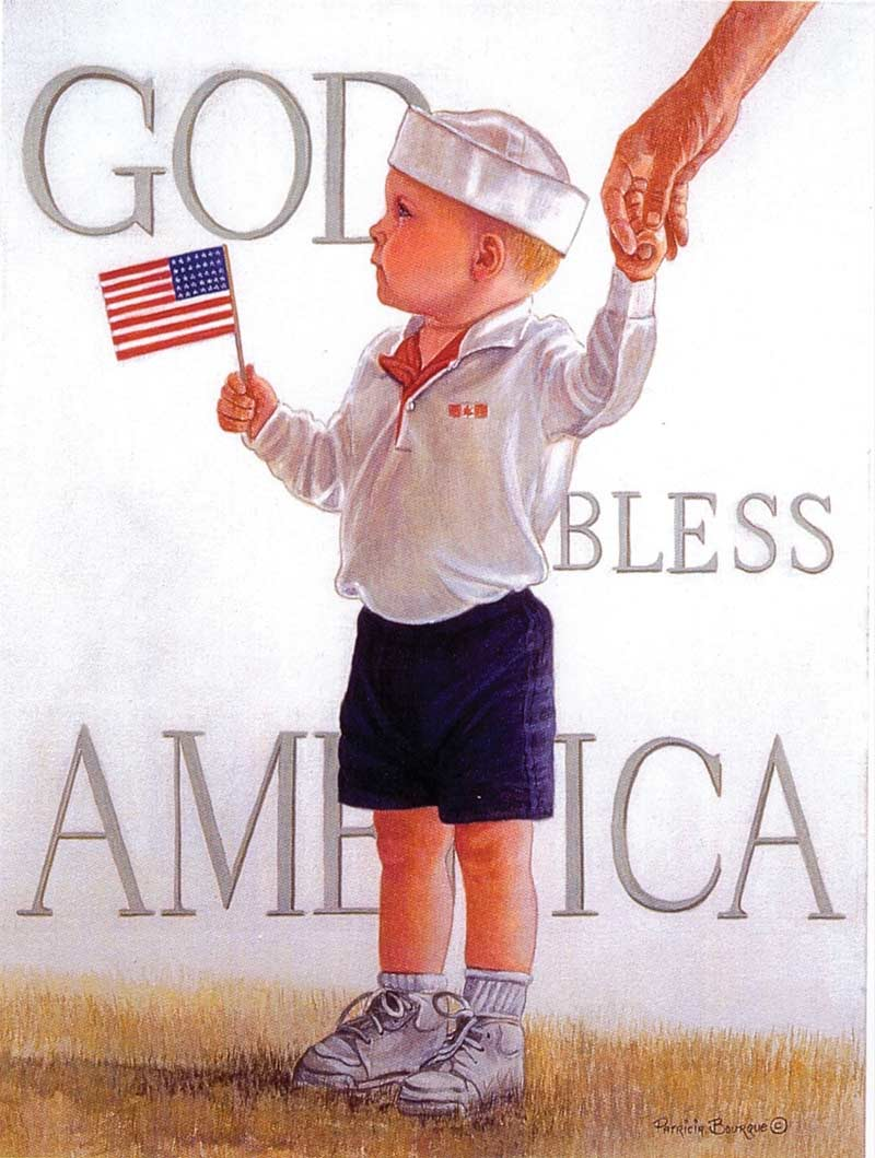 God Bless America Fourth of July Jigsaw Puzzle