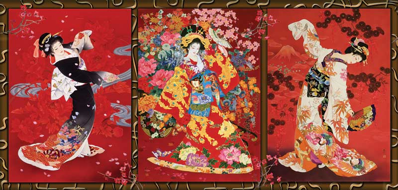 Oriental Trio Asian Art Jigsaw Puzzle