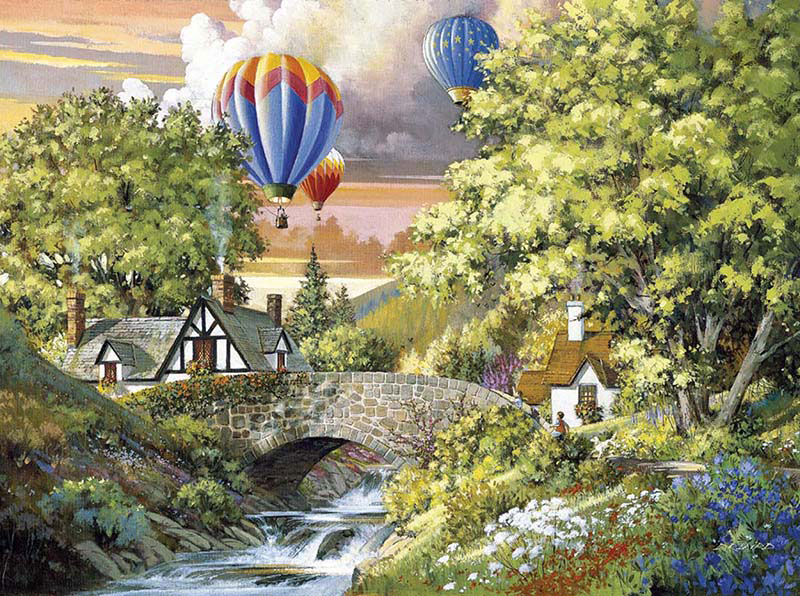 Sunset Flight Balloons Jigsaw Puzzle