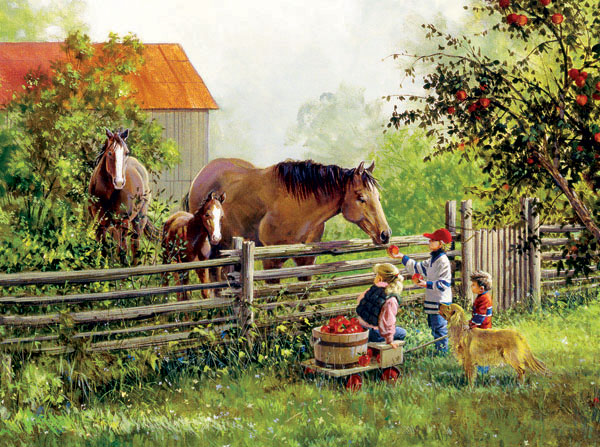 Treat Friends Horses Jigsaw Puzzle