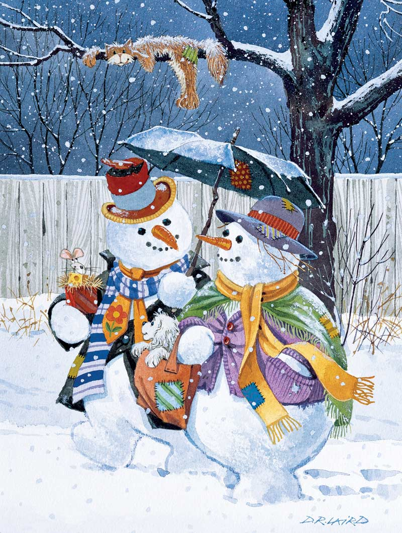 Winter Stroll Christmas Jigsaw Puzzle