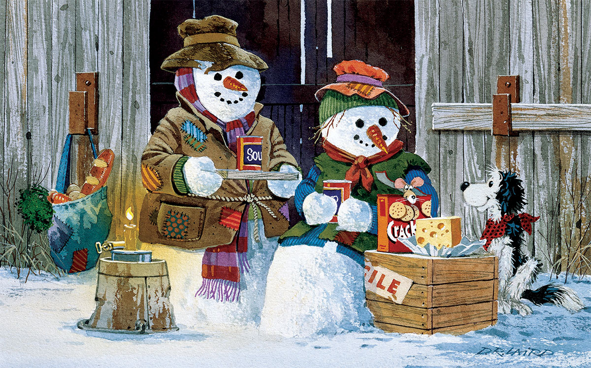 Soup's On Snowman Jigsaw Puzzle