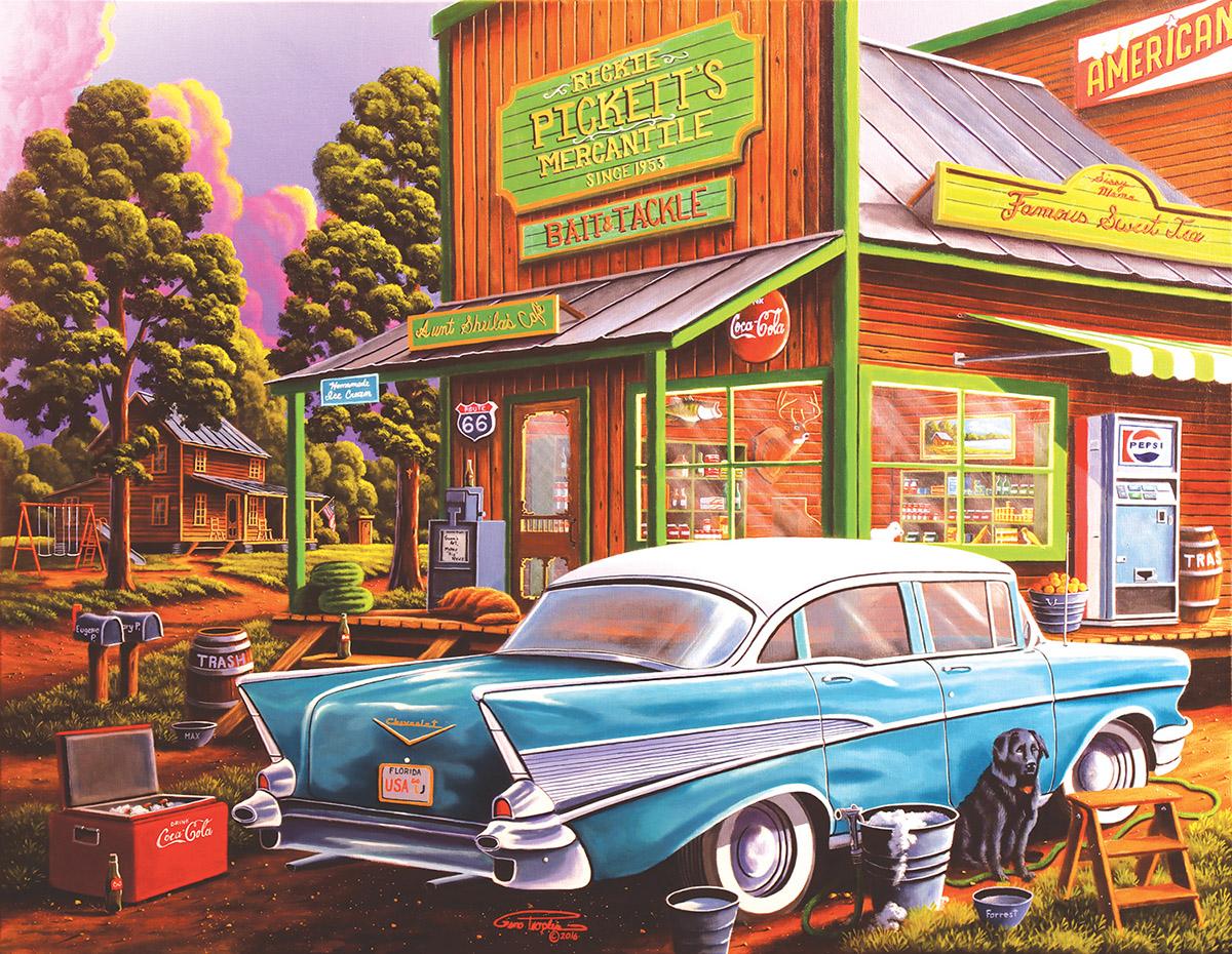 Aunt Sheila's Cafe - Scratch and Dent Nostalgic / Retro Jigsaw Puzzle