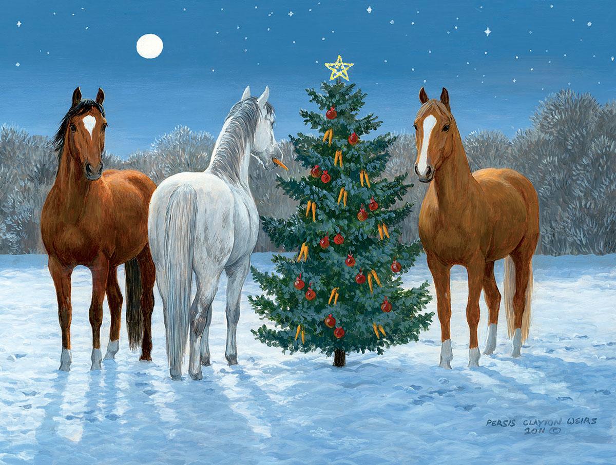 Moonlight Mischief Horses Jigsaw Puzzle