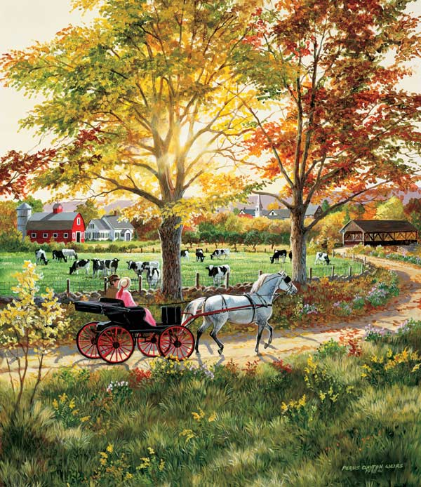 Country Ride Countryside Jigsaw Puzzle