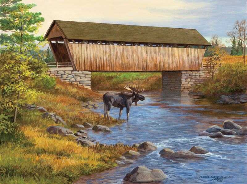 Autumn Stream Bridges Jigsaw Puzzle