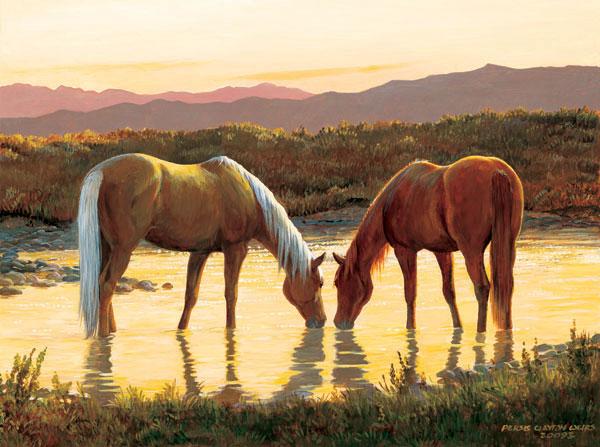 Last Call Horses Jigsaw Puzzle
