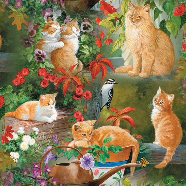 Golden Cats in the Sun Cats Jigsaw Puzzle