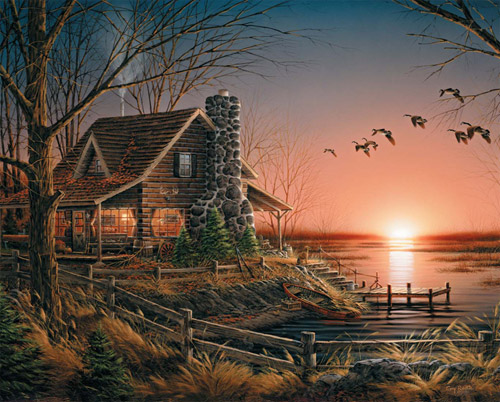 Comforts of Home Cottage/Cabin Jigsaw Puzzle
