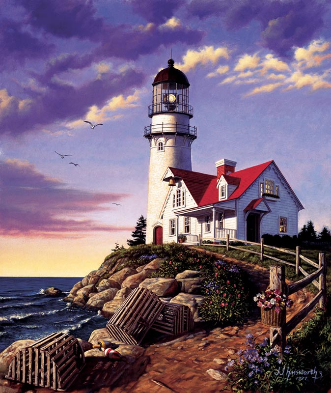 Lighthouse Hill Lighthouses Jigsaw Puzzle