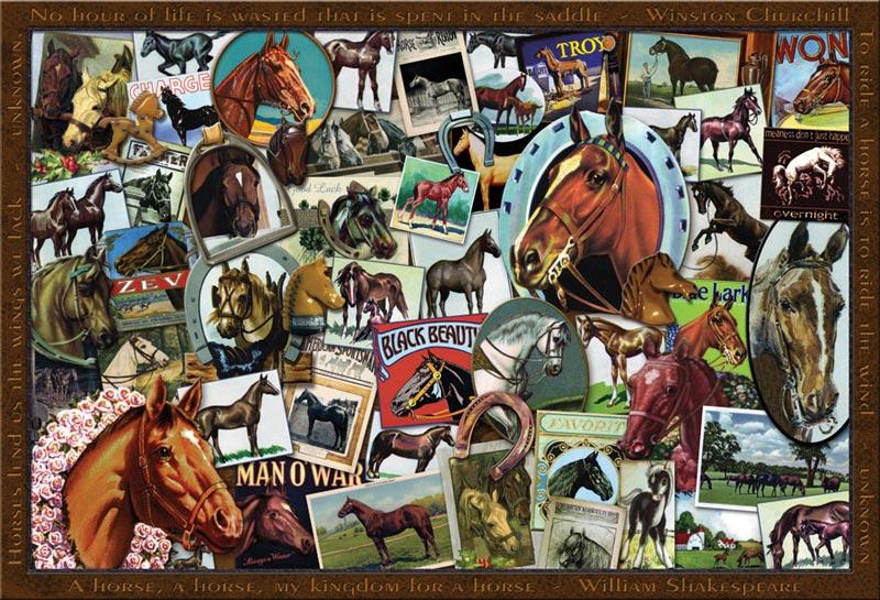 Vintage Horses Horses Jigsaw Puzzle