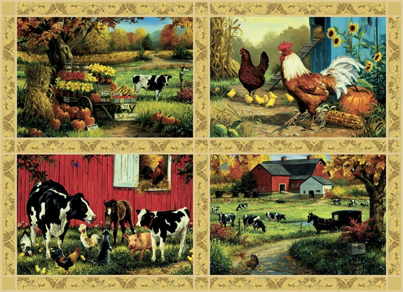 Postcards from Home Farm Jigsaw Puzzle