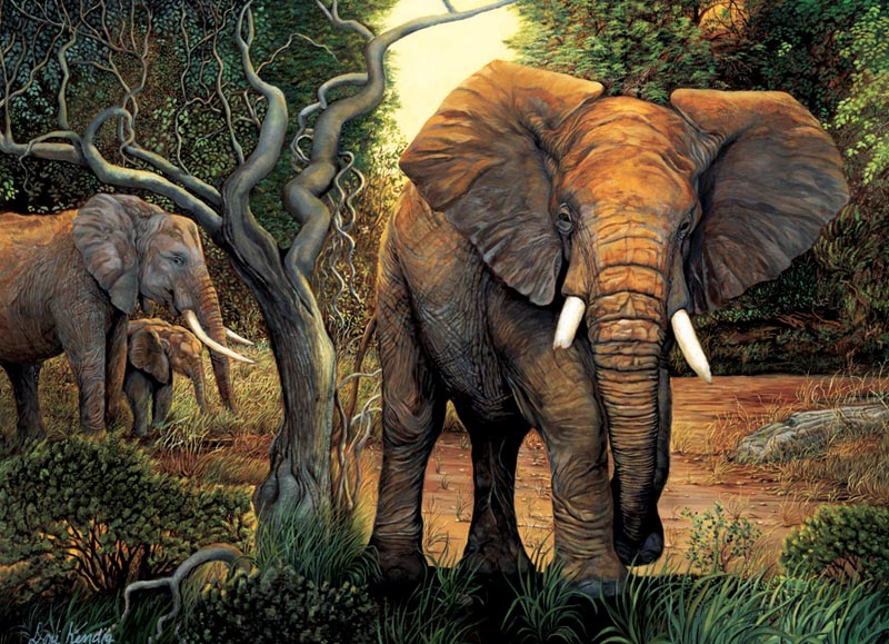 The Protector Other Animals Jigsaw Puzzle