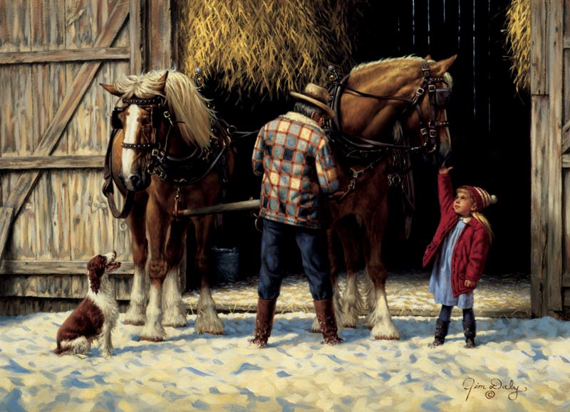 Hitching Up Horses Jigsaw Puzzle