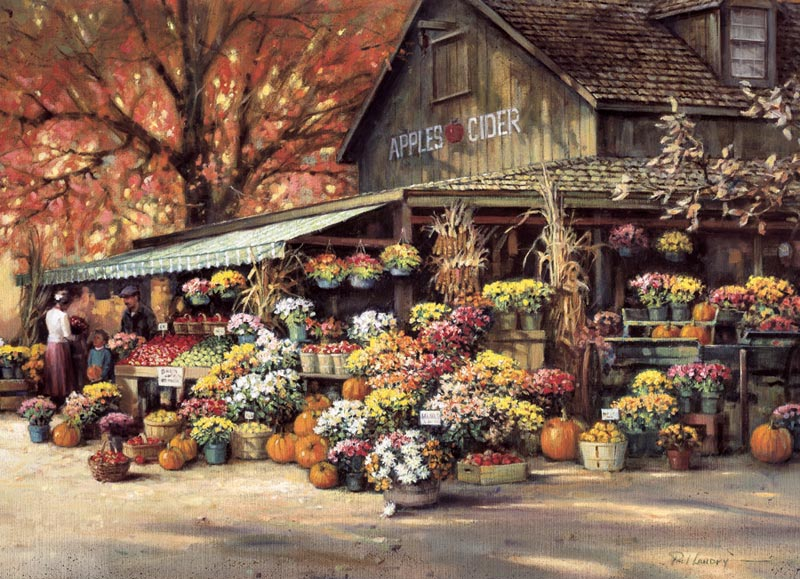 Autumn Market Fall Jigsaw Puzzle