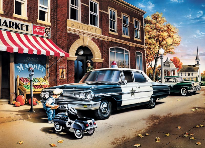 On the Beat Cars Jigsaw Puzzle