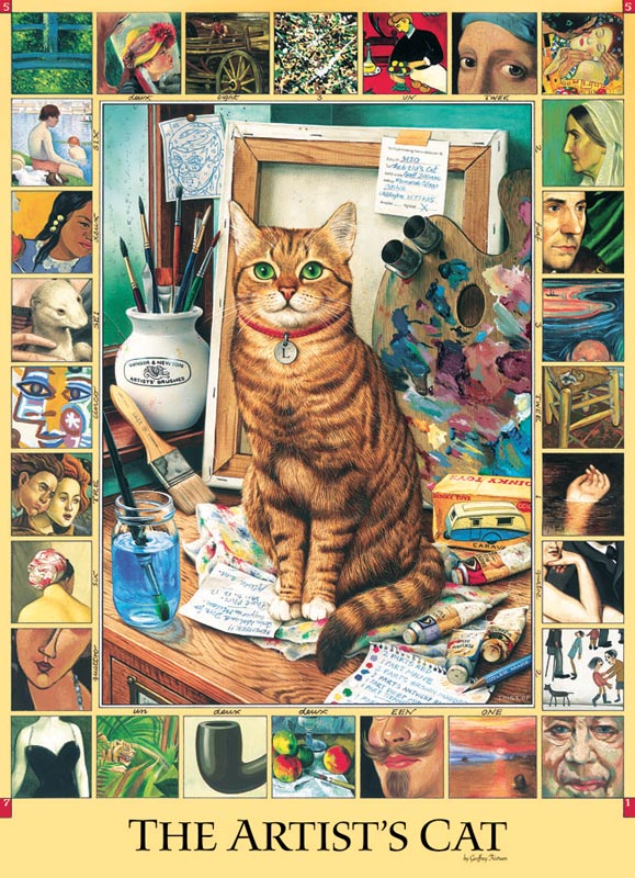 The Artist's Cat Cats Jigsaw Puzzle