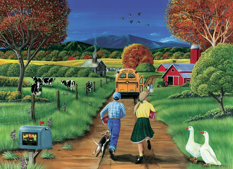 First Day of School Farm Jigsaw Puzzle