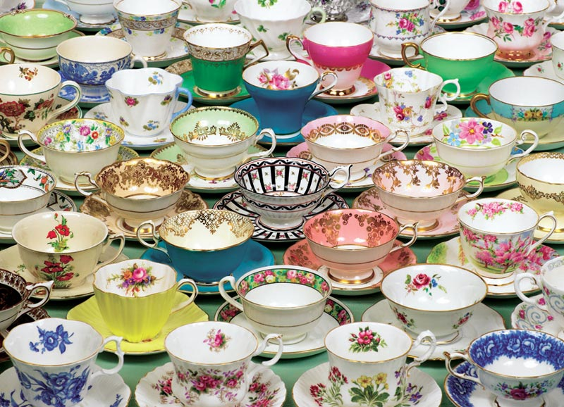 Tea Cups Everyday Objects Jigsaw Puzzle