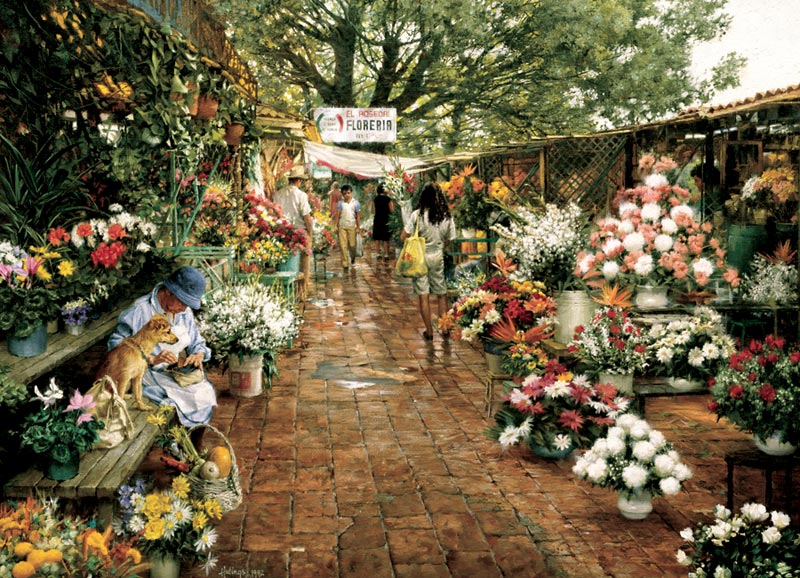 Flower Market Flowers Jigsaw Puzzle
