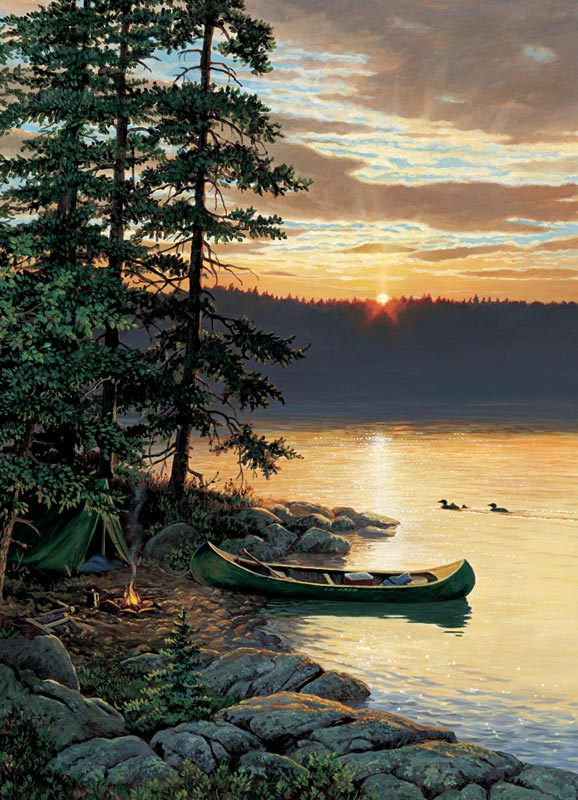 Canoe Lake - Scratch and Dent Beach Jigsaw Puzzle