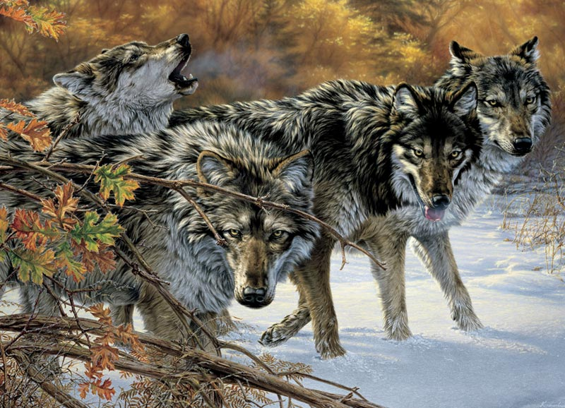 Wolf Talk Wolves Jigsaw Puzzle