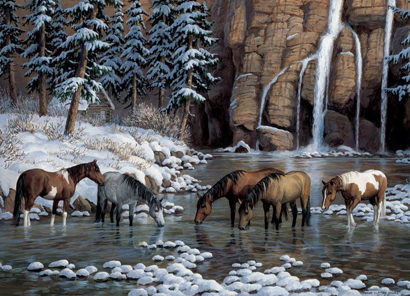 Spirit of the Rockies Waterfalls Jigsaw Puzzle