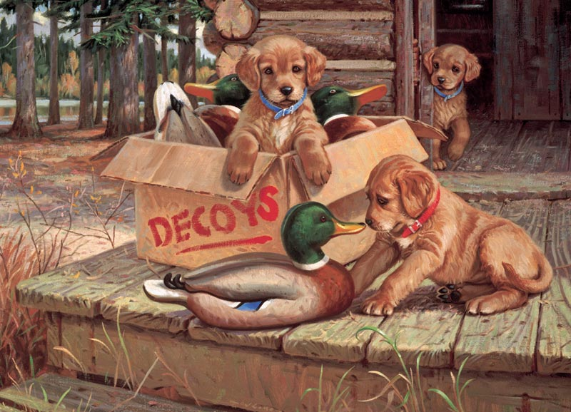Doggie Decoys Dogs Jigsaw Puzzle