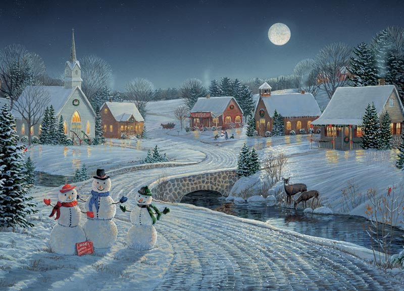 One December Night Christmas Jigsaw Puzzle