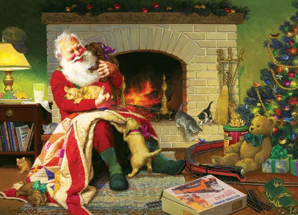 Santa's Favorite Quilt Christmas Jigsaw Puzzle