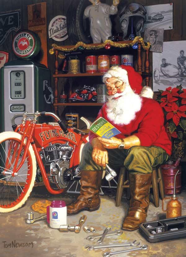 Santa's Flying Merkel Christmas Jigsaw Puzzle