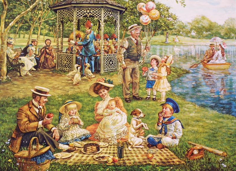 Family Picnic Summer Jigsaw Puzzle