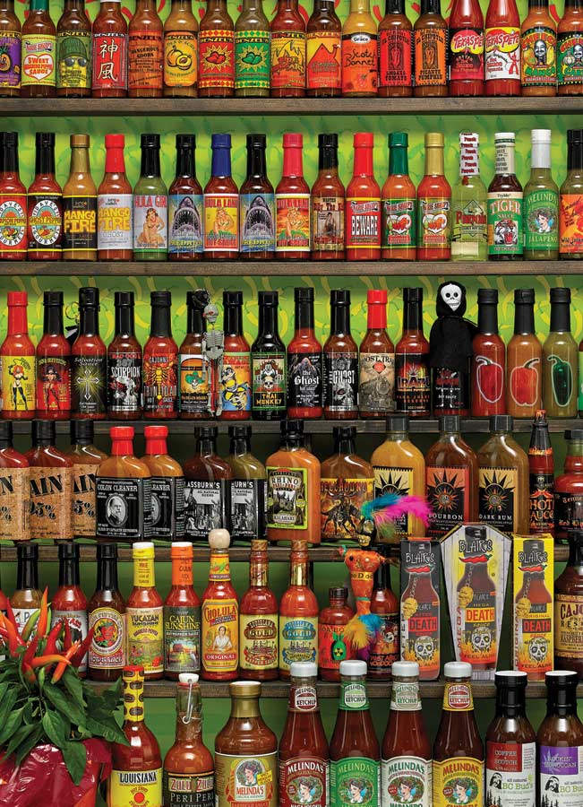Hot Hot Sauce Everyday Objects Jigsaw Puzzle
