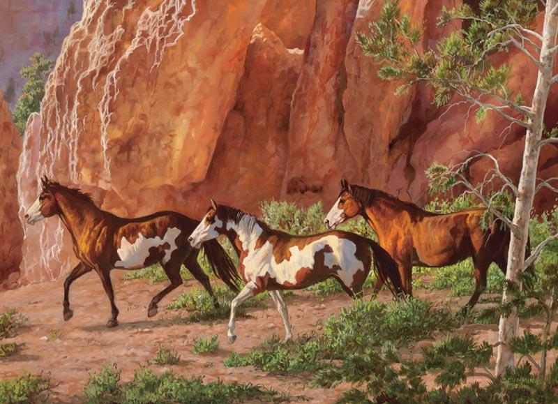 Horse Canyon Horses Jigsaw Puzzle