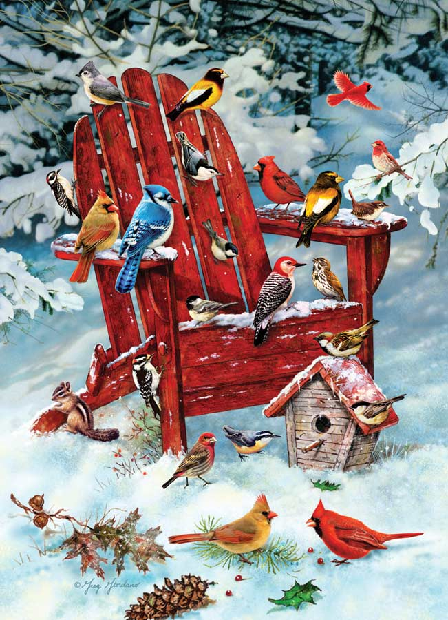 Adirondack Birds - Scratch and Dent Birds Jigsaw Puzzle