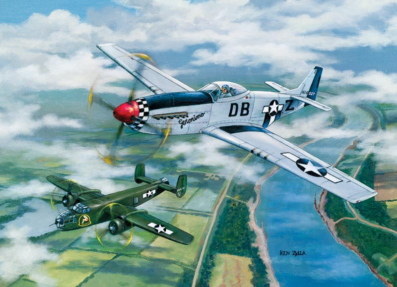 Escort to Oshkosh - Scratch and Dent Planes Jigsaw Puzzle