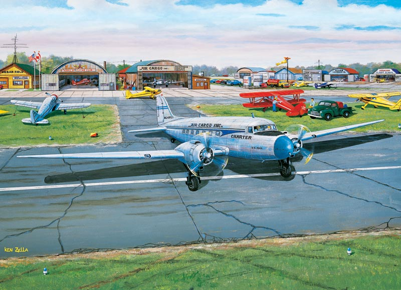 Municipal Airport - Scratch and Dent Planes Jigsaw Puzzle