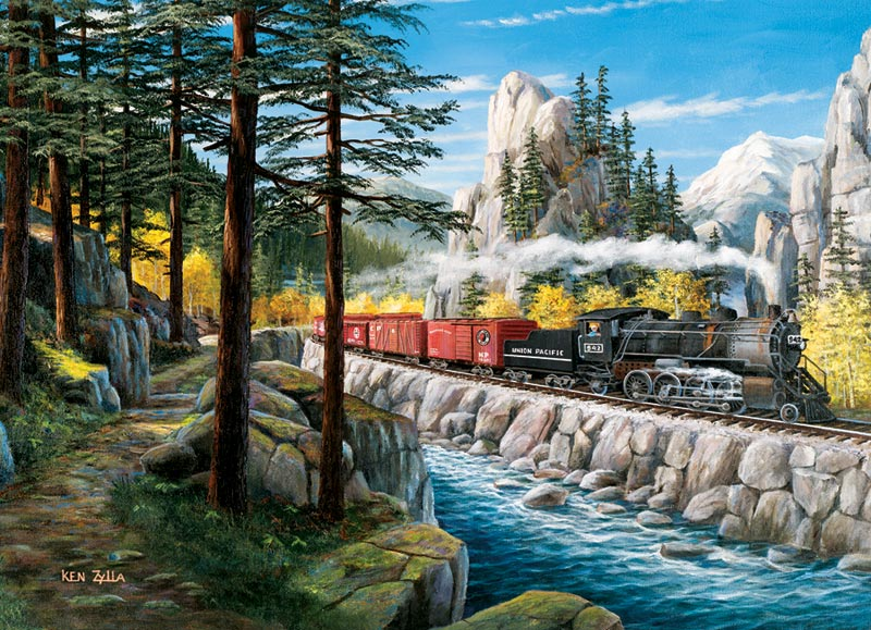 Rounding the Horn Trains Jigsaw Puzzle