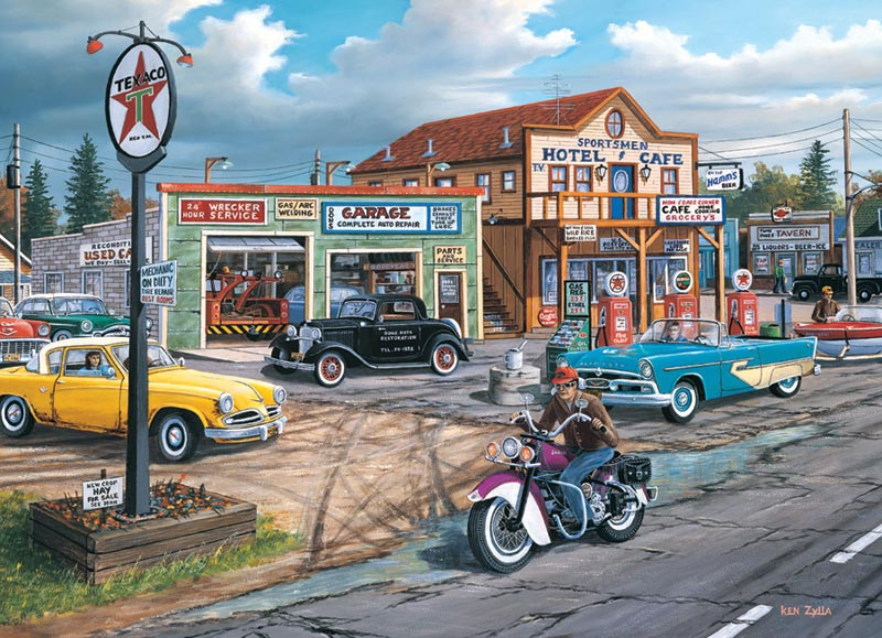 Crossroads - Scratch and Dent Cars Jigsaw Puzzle