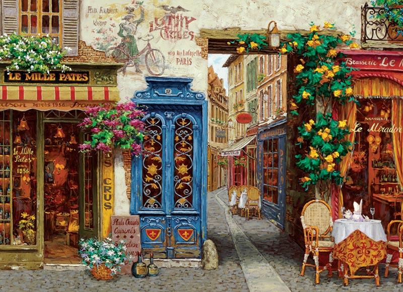 Rue Lafayette Street Scene Jigsaw Puzzle