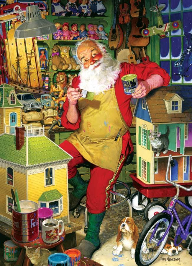 Santa's Workshop Santa Jigsaw Puzzle