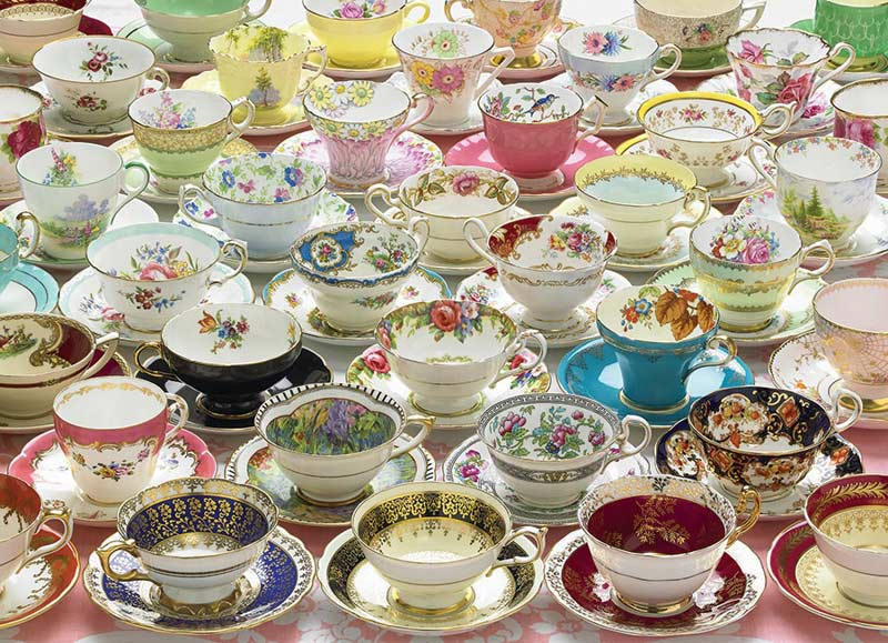 More Teacups - Scratch and Dent Everyday Objects Jigsaw Puzzle