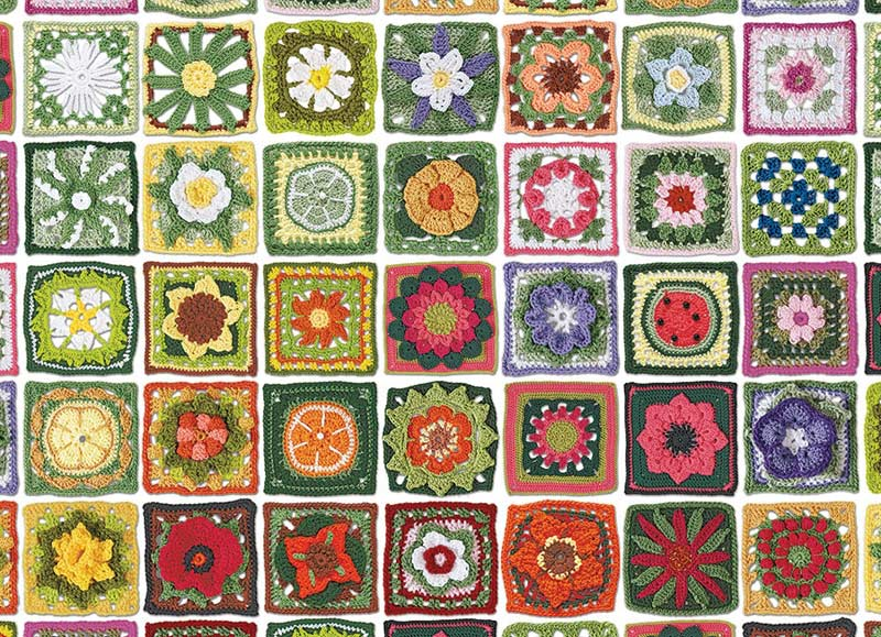 Granny Squares Crafts & Textile Arts Jigsaw Puzzle