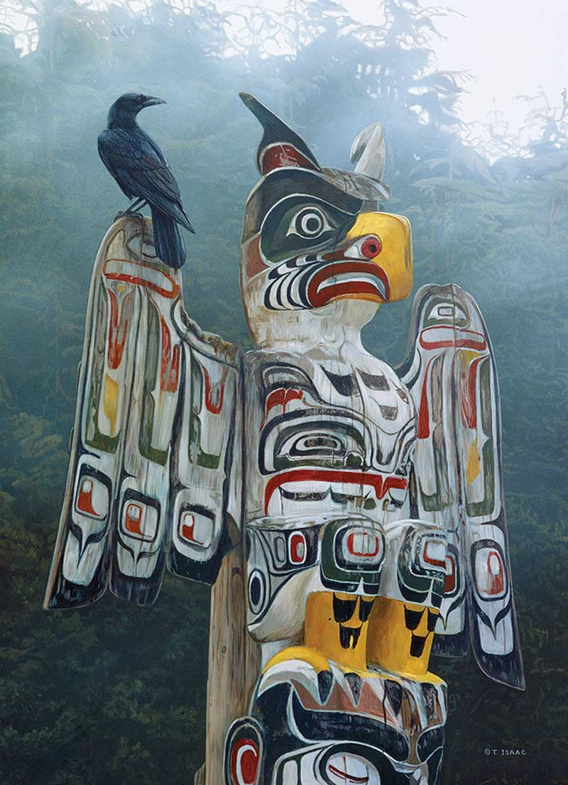 Totem Pole in the Mist Landmarks / Monuments Jigsaw Puzzle