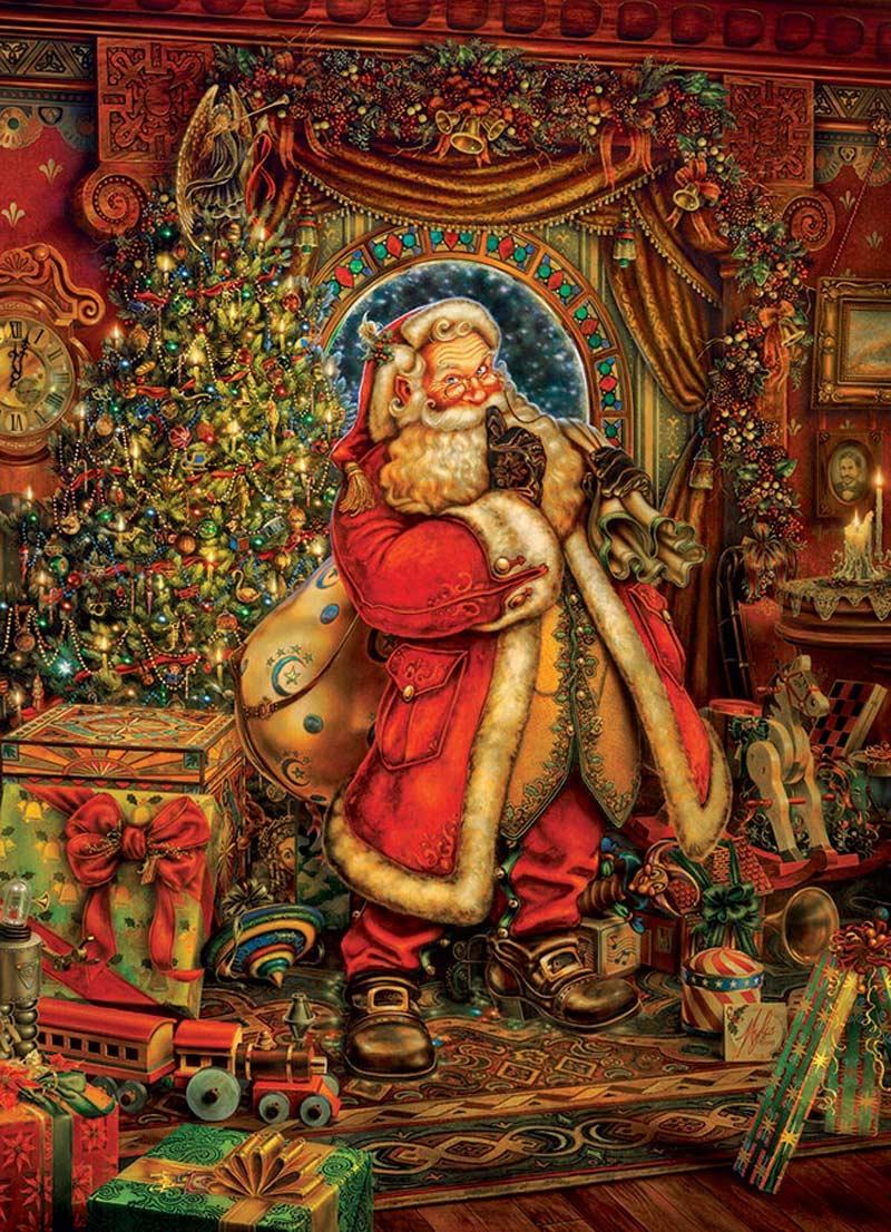 Christmas Presence Nostalgic / Retro Jigsaw Puzzle